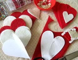Как сделать валентинку из фетра шаг 1