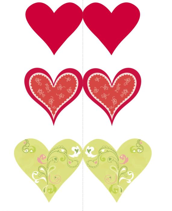 Валентинки из бумаги шаблоны