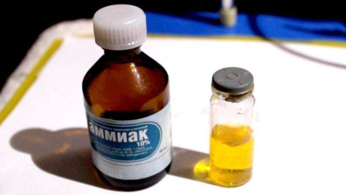 Химичекское очищение золота с помощью аммиака