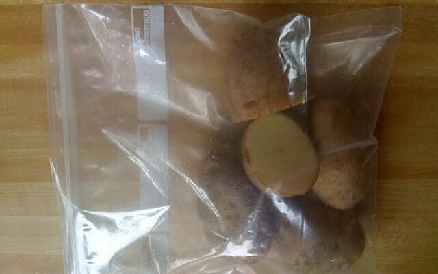 Картошка в пакете для микроволновки