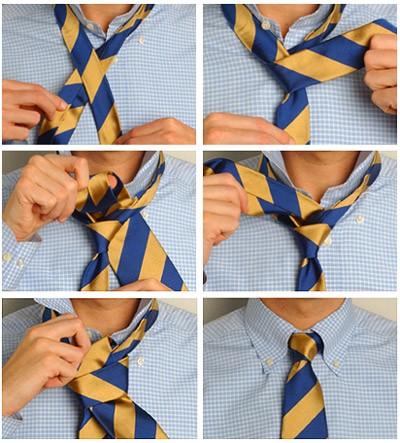 Повязываем галстук простым узлом
