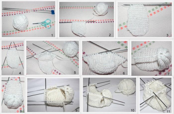 Как связать пинетки спицами: мастер класс для мамочек