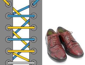 Видео как красиво завязать шнурки
