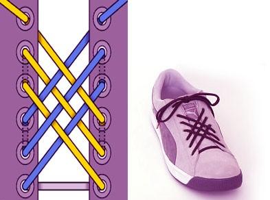 Как завязать длинные шнурки на ботинках