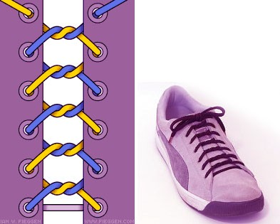 Завязываем шнурки красиво: способ 5