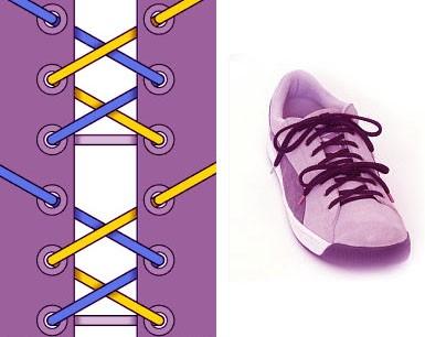 Завязываем шнурки красиво: способ 6
