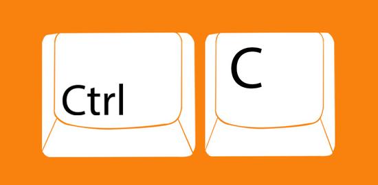 Как с помощью клавиатуры скопировать текст?