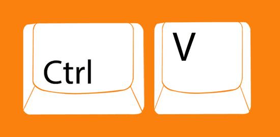Как вставить текст с помощью клавиатуры?