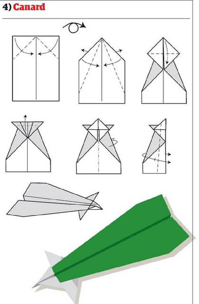 Как сделать самолетик из бумаги который очень долго летает 955