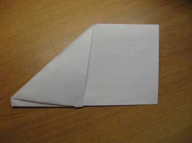 Как сделать самолетик из бумаги: шаг 6