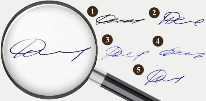 Варианты подписи: выбираем самый лучший