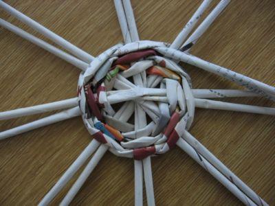 Как сделать шар из газет: мастер-класс 2