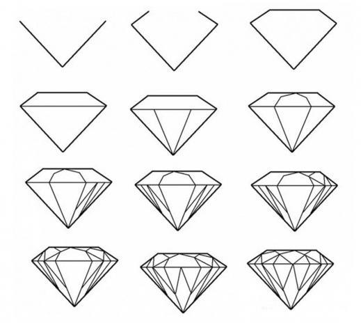 Как нарисовать кристалл?