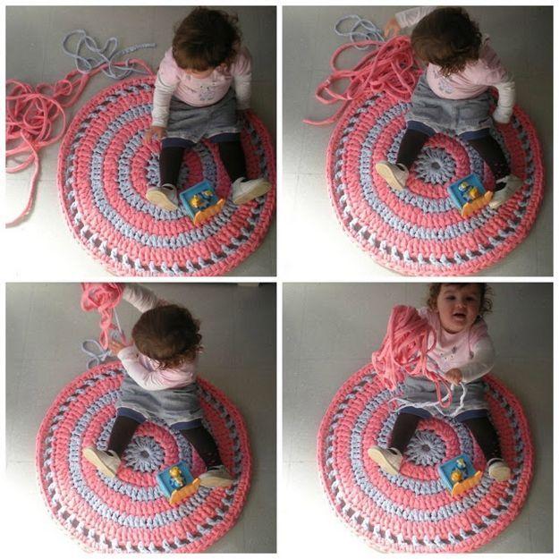 Как связать коврик своими руками: мастер-класс