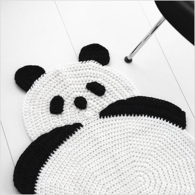 Вяжем коврик-панду своими руками