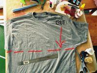 Простое платье своими руками из двух футболок: срез 2