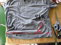 Простое платье своими руками из двух футболок