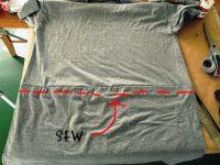 Простое платье своими руками из двух футболок: соединение деталей