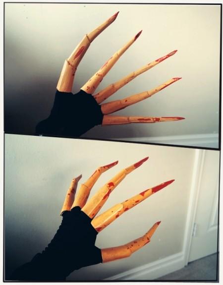 Как сделать из бумаги когти хищника: шаг 4