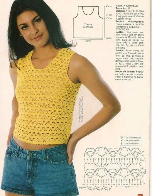 Вязание топа крючком для женщин модные модели 2016 года