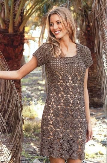 Как связать летнее платье крючком: модель 2016