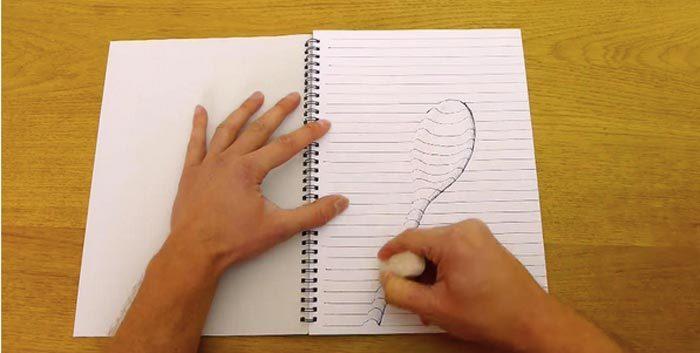 Как нарисовать 3d рисунок на бумаге: создаем объемное изображение