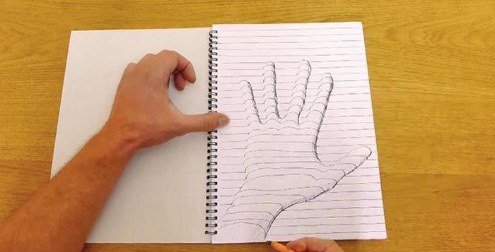 Как наносить 3д рисунки на бумагу карандашом