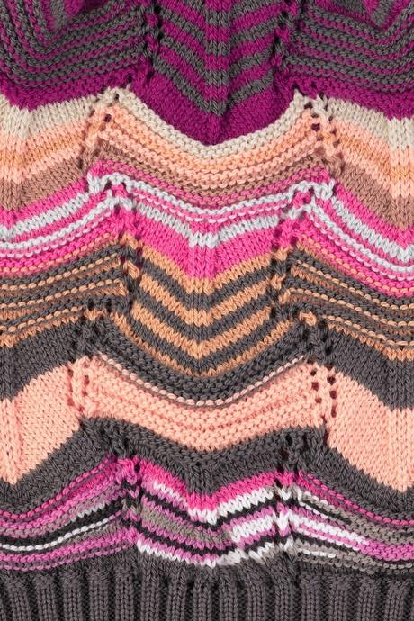 Схемы вязания спицами узоров миссони: радужный узор