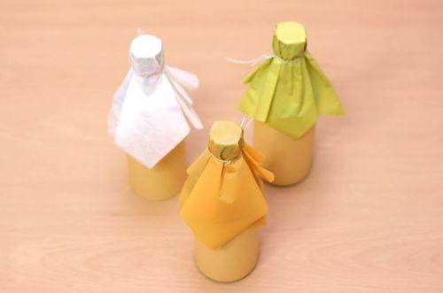 Как красиво упаковать бутылку (4)