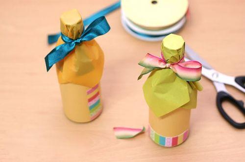 Как красиво упаковать бутылку (6)