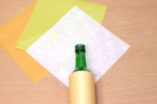 Как красиво упаковать бутылку (3)