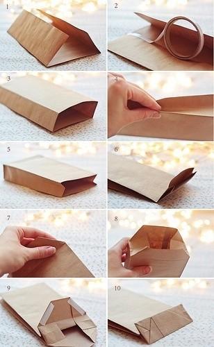 Как сделать бумажній пакет своими руками?