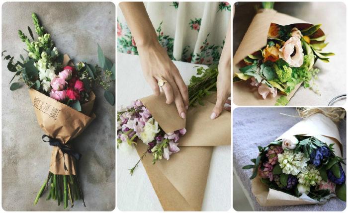 Как красиво запаковать цветы?