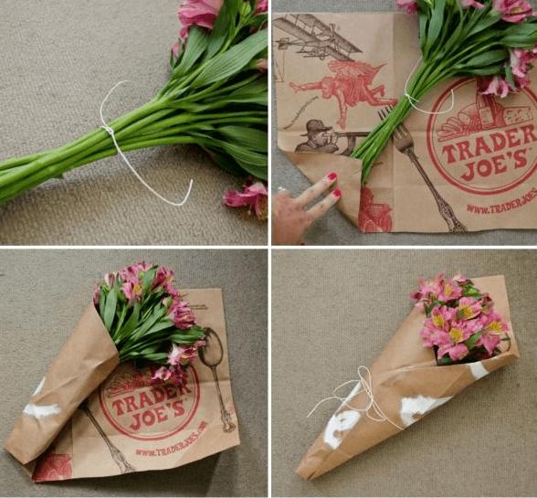 Как красиво завернуть цветы в подарочную бумагу?
