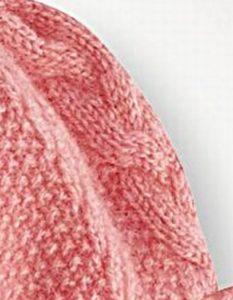 Вязание спицами платья для девочки от 1 до 3 лет: рукав