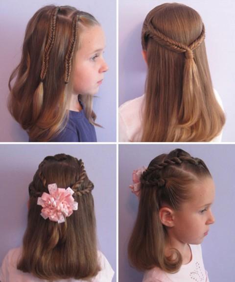 Косички для девочек на длинные волосы: вариант 3