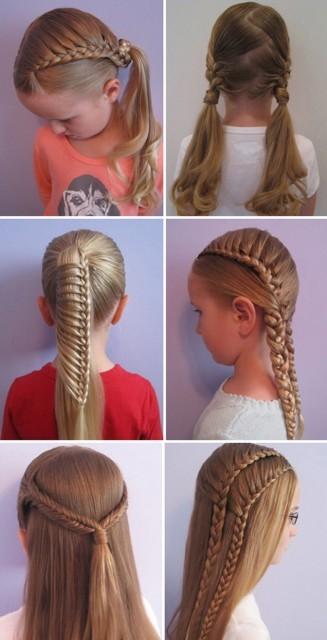 Косички для девочек на длинные волосы: вариант 4