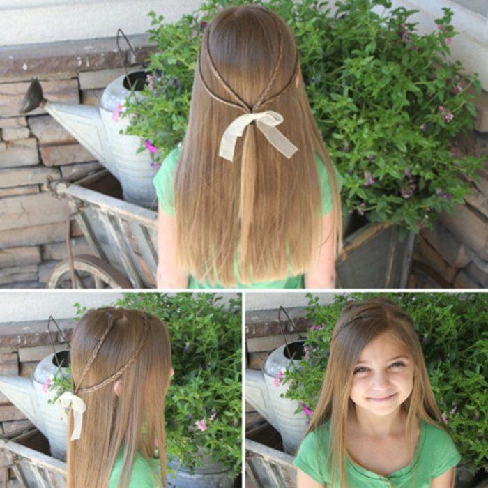 Косички для девочек на длинные волосы: вариант 5
