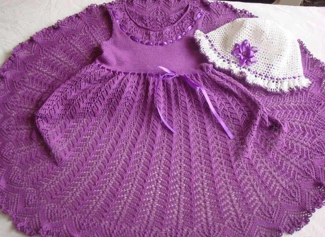 Вязание платья для деочки от 1 до 3 лет