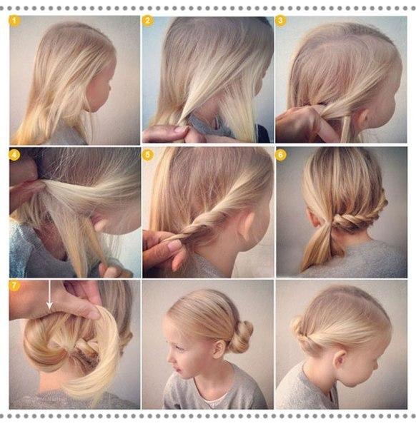 Косички для девочек на короткие волосы: вариант 5