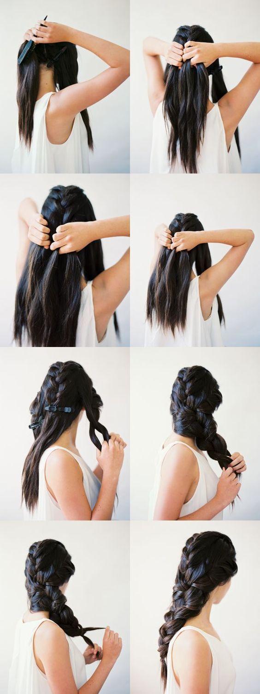 Как сплести объемную косу из трех кос?