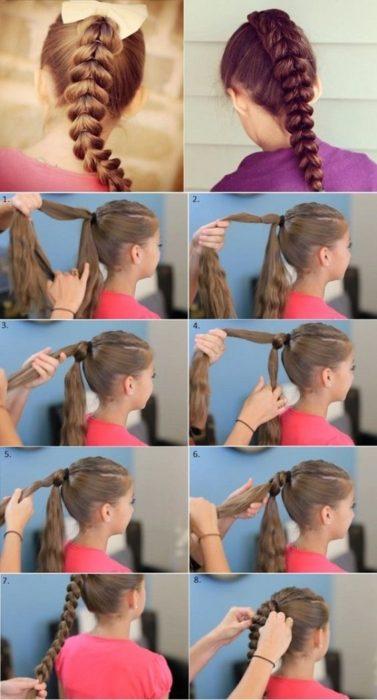Красивая коса из жгутов для девочки