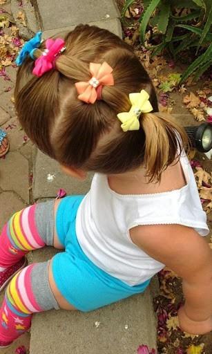 Прически для девочек на короткие волосы: вариант 3