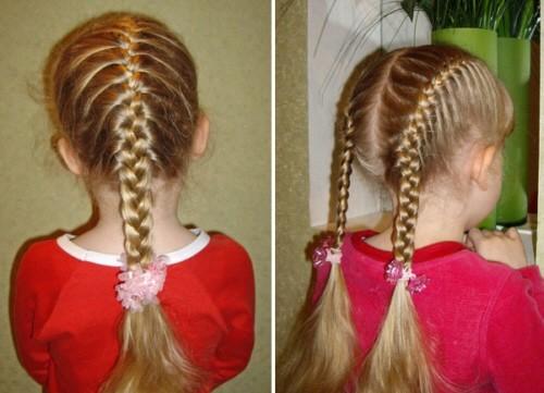 Косички для девочек с пошаговыми фото: дракончик или колосок