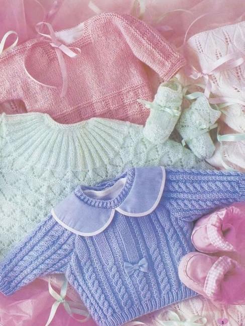 Вязание спицами кофточки для малыша