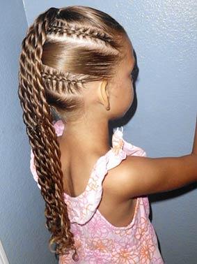 Шикарная прическа из кос для девочки