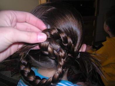 Косичка для девочки: переплетение кос