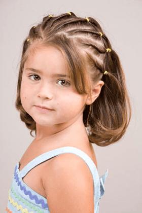 Косички для девочек на короткие волосы: вариант 4