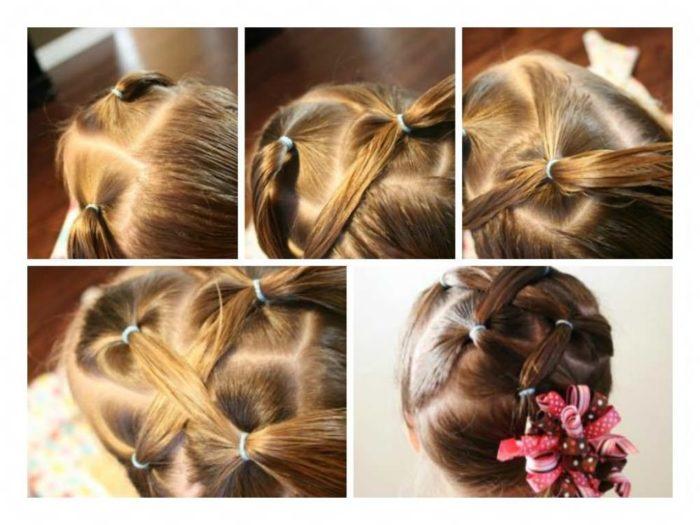 Озорные косички для девочек: прическа из хвостика