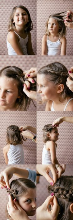 Косички для девочек на короткие волосы: вариант 2